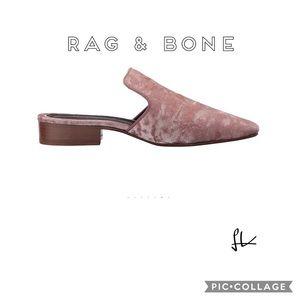 Rag & Bone Mauve Luis Velvet Mule